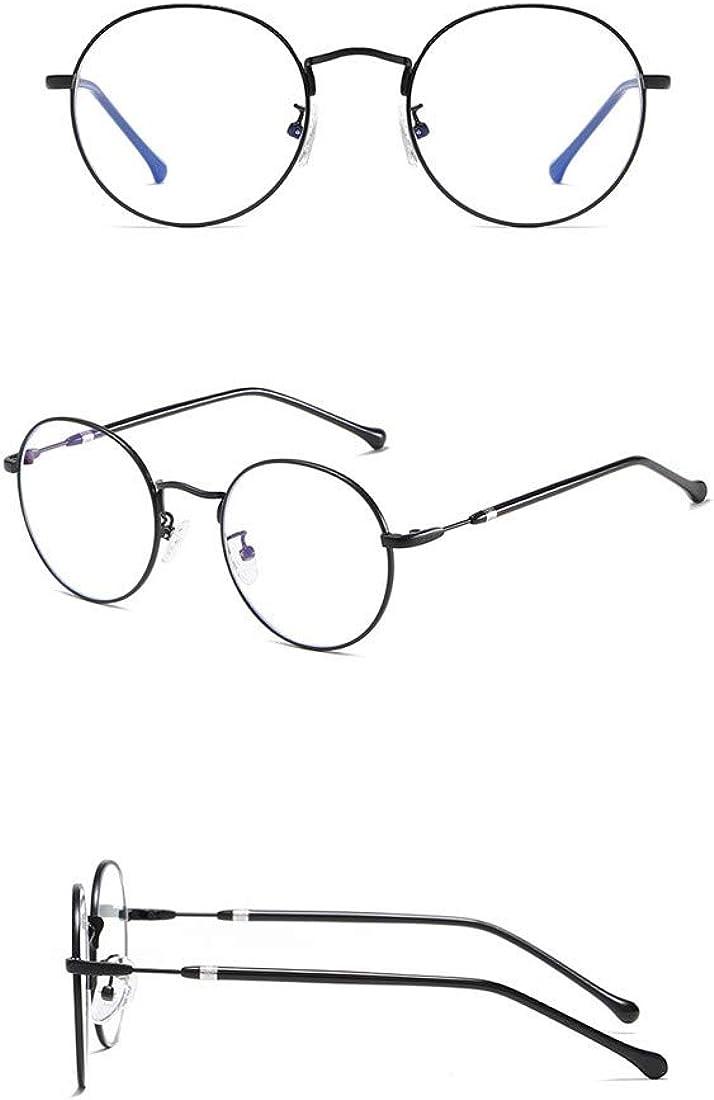 MIGOO Retro Round Glasses Clear Lens Metal Frame Eyeglasses Non-prescription for Women and Men