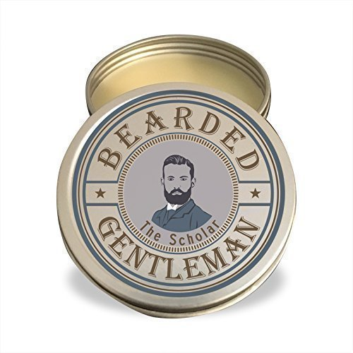 Beard Balm by Bearded Gentleman: Limited Edition Vanilla Tobacco | The Scholar | All Natural Beard Conditioning Balm | 2 oz | - Styles Beards Best