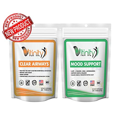 Lung Cleanse for Smokers & Mood Support - Clear Airways Lung Respiratory Support Supplement - Natural Lung Health Complex - Lung Detox - Breathing,Asthma, Seasonal Allergy Relief Seekers(75 Count)