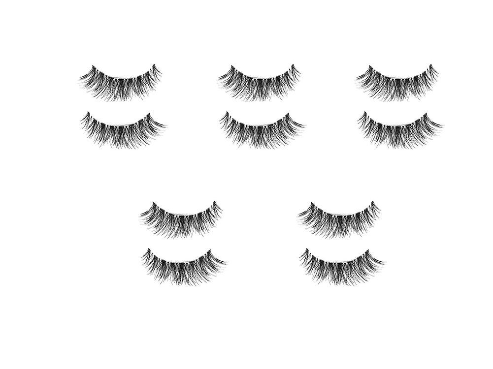 Daorier Faux Cils Dense et D/ésordonn/é Mode Volumineux Naturel Faux Cils Maquillage Yeux Eyelashes Noir 5 Paire