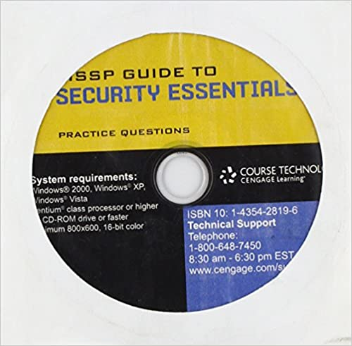 Test Prep Questions for Gregory's CISSP Guide to Security Essentials