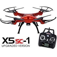 LeaningTech x Syma X5SC Explorers 2 - 2.4G 4 Channel 6-Axis Gyro RC Headless Quadcopter With HD Camera Red