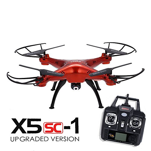 Syma-X5SC-Explorers-2-24G-4-Channel-6-Axis-Gyro-RC-Headless-Quadcopter-With-HD-Camera-Red