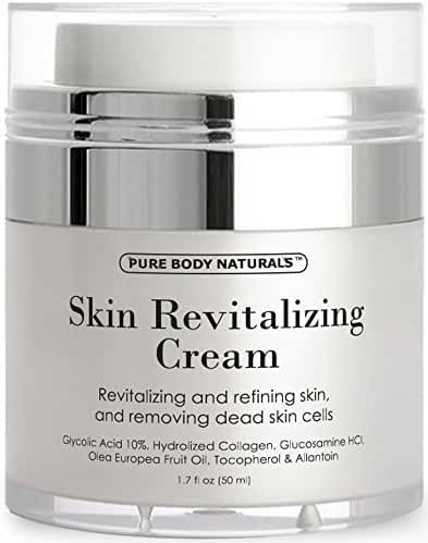 Pure Body Naturals Skin Revitalizing Cream with Glycolic Acid, 1.7 fl oz