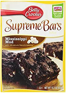Betty Crocker Supreme Bars mix, Mississippi Mud, 15.3-Ounce (Pack of 6)
