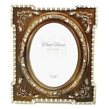 Amazon.com - 4x6 Vintage Oval Silver With Bronze Picture Frame -