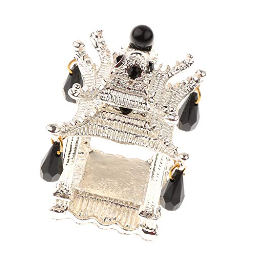 Fityle Vintage Tower Napkin Rings Sparkly Rhinestone Crystal Decor Buckles Table Adornments Serviette Holders - Silver ()