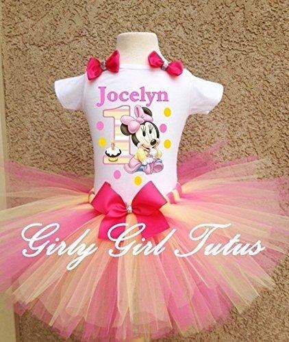 amazon com minnie mouse 1st birthday outfit dress set handmade