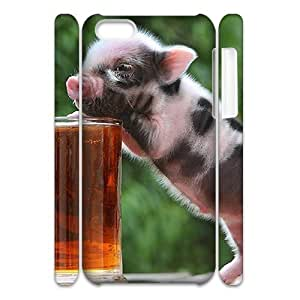 ALICASE Diy 3D Protection Hard Case Little Pig For Iphone 4s [Pattern-1]