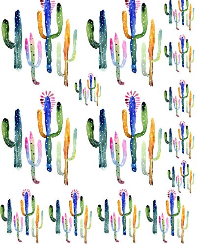 Watercolor Cactus Flower - 27438 - Ceramic Decal - Enamel Decal - Glass Decal - Waterslide Decal - 3 Different Size Sheet (images) to Choose from. Choose either Ceramic (Enamel) or Glass Fusing Decals