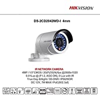 HIKVISION 4MP WDR IR Mini Bullet Network Camera, International Version, DS-2CD2042WD-I (4mm)