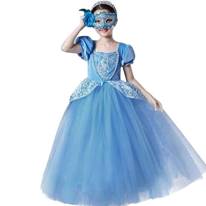 IWEMEK Niñas Cenicienta Disfraz Cinderella Vestido Carnaval Traje ...