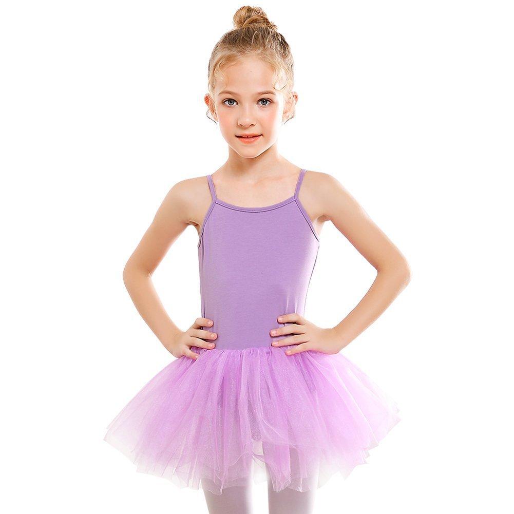 STELLE Girls' Camisole Tutu Dress for Dance, Gymnastics&Ballet (Toddler/Little Kids/Big Kids)(100, Purple)