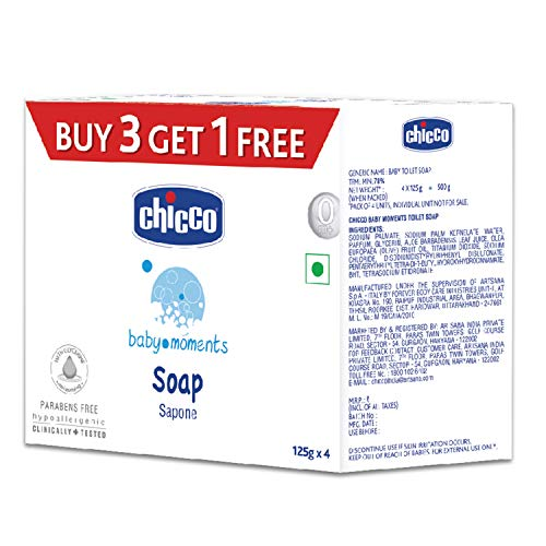 Chicco Baby Soap pack of 4