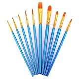 Paint Brushes, Laniakea® 10pcs Paint Brush Set for Watercolor/Oil/Acrylic/Crafts/Rock & Face Painting(Blue)