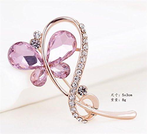 Meigold Perle Strass Broche Floral Diamant Broche Girl Lady Bijoux f/ête de Mariage de No/ël Cadeau danniversaire Rose