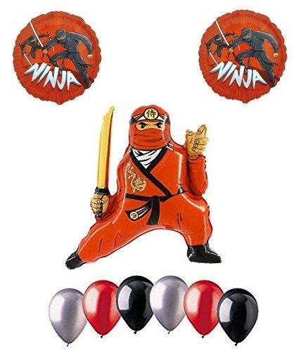 Amazon.com: Red Ninja Supplies Happy Birthday Party 9 Piece ...