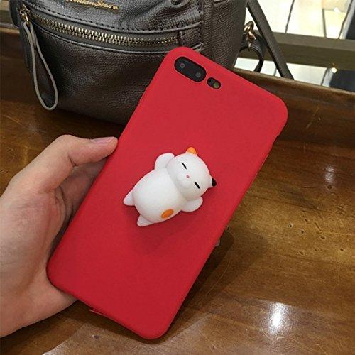 Hülle für iPhone 7 plus , Schutzhülle Für iPhone 7 Plus 3D Lovely Katze Cartoon Pattern Squeeze Relief IMD Kunstfertigkeit Squishy Schutzmaßnahmen zurück Fall Fall ,hülle für iPhone 7 plus , case for