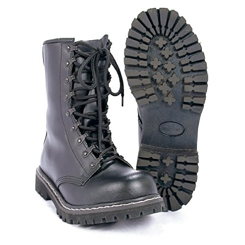 Mil Black Army Tec German Boots Black Paratrooper rwqZrX1P