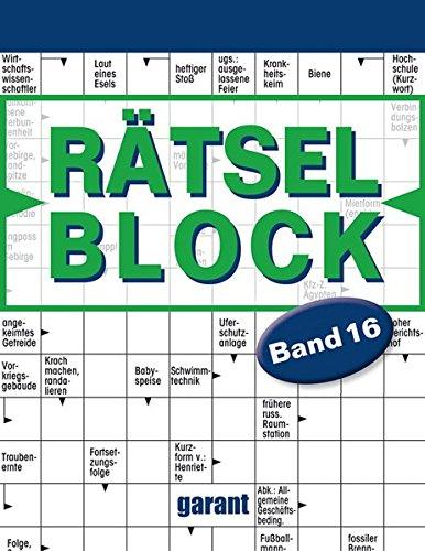 Rätselblock Band 16