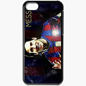 Personalized iPhone 5C Cell phone Case/Cover Skin Incredible cool lionel messi fcb Black