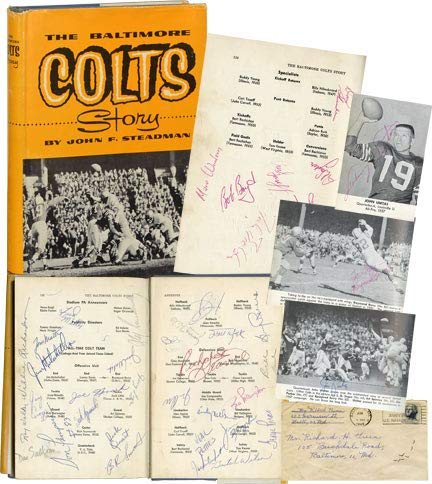- The Baltimore Colts Story (First Edition, signed by 40 team members and staff from the 1962-64 season)