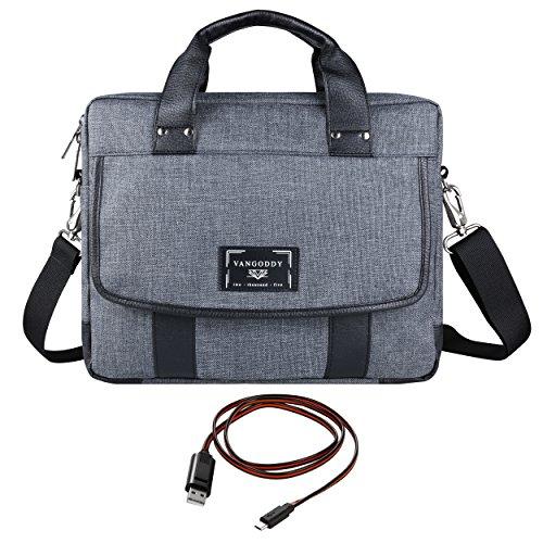 Vangoddy Chrono Grey Rugged Oxford Messenger Shoulder Bag Tote for Apple MacBook Series 11.6