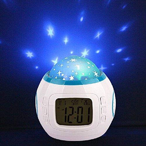 Geekdigg Projection Alarm Clock Led Night Light Projector
