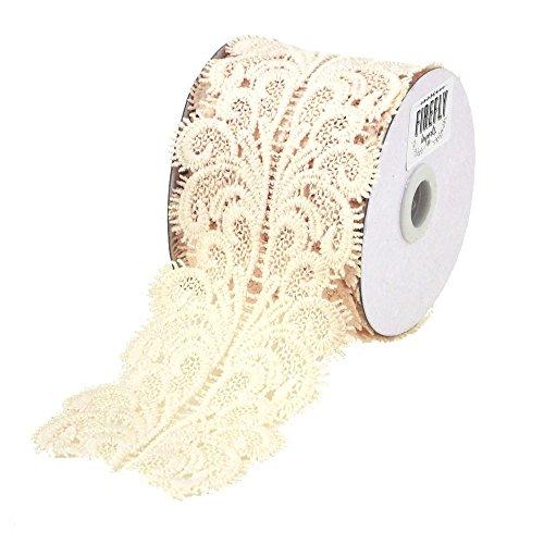 (Homeford FCR00000LT002VRY Paisley Crochet Lace Trim Ribbon, 3