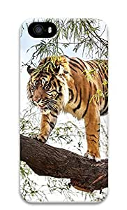 iPhone 5 5S Case Tiger To Climb The Tree 3D Custom iPhone 5 5S Case Cover