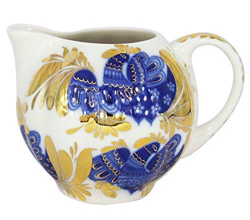 Lomonosov Porcelain Creamer 22 Karat Gold Golden Garden 11.8 fl.oz/350 - Creamer Porcelain Lomonosov