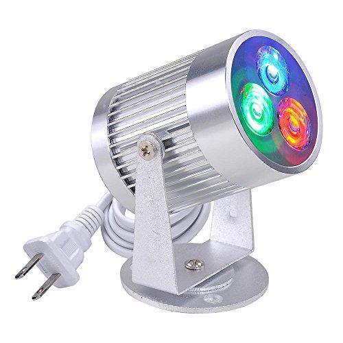 Yescom 3W LED Red/Green/Blue Beam Spotlight Stage Pinspot Lighting Effect for DJ Mirror Ball KTV Disco Party ()