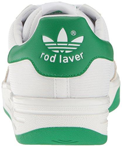 Adidas Originals Mens Rod Laver Super Fashion Sneaker Bianco / Bianco / Fairway