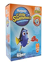 Huggies Little Swimmers Disposable Swimpants Medium - 25 Pair Swimpants plus bonus 56 Wipes BOBEBE Online Baby Store From New York to Miami and Los Angeles