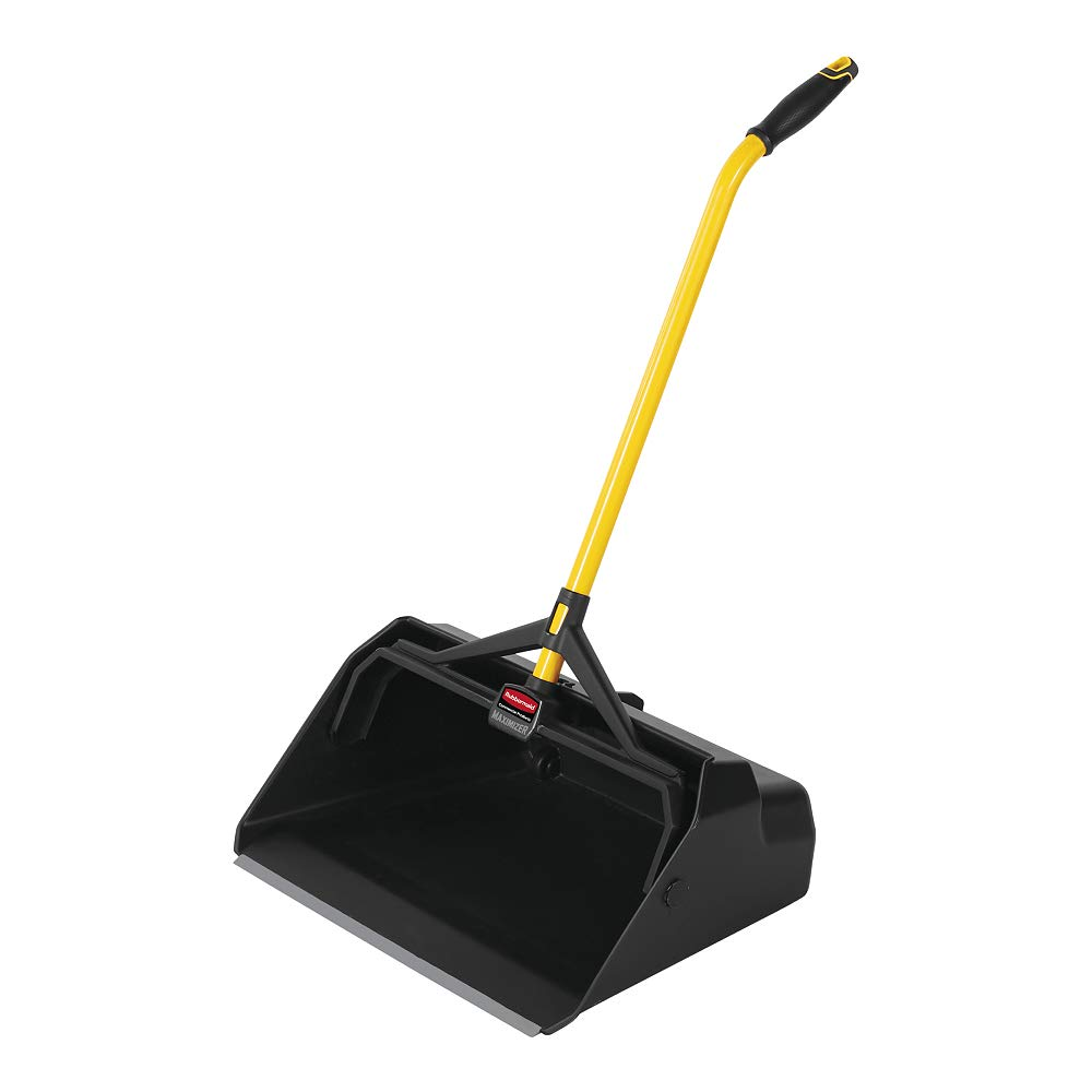 Rubbermaid Commercial Maximizer Heavy Duty Stand Up Debris/Dust Pan, Yellow (2018781)
