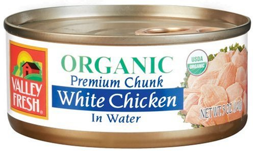 Valley Fresh Organic White Chicken in Water, 5-Ounce Cans (Pack of (Fresh Chicken)