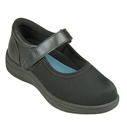 Instride Nellie Ii Femmes Confort Thérapeutique Extra Profondeur Chaussure Décontractée Lycra Velcro Noir / Lycra