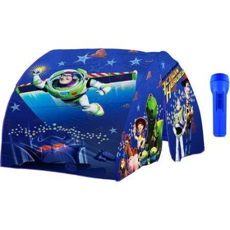 Disney/Pixar Toy Story Nylon Twin Bed Tent and Matching flashlight for Kids Holds 1 Person Only - Blue