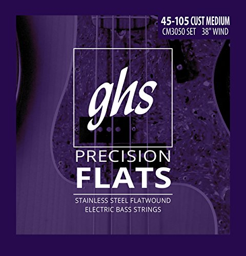 - GHS Strings 4-String Bass Precision Flats, Stainless Steel Flatwound, 38