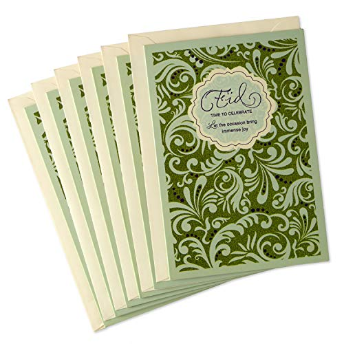 Hallmark Pack of Eid al-Fitr or Eid Al-Adha Cards, Time to Celebrate (6 Cards with Envelopes)