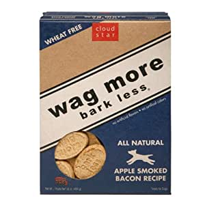 Cloud Star Wag More Bark Less Baked Treats, Apple Smoked Bacon, 16-Ounce (Pack of 4)