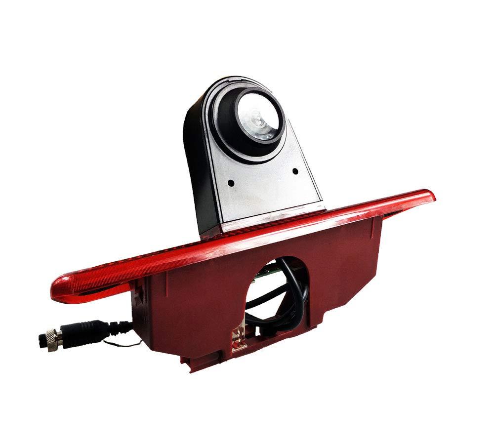 Transporter Van Cam/éra de Recul 7 Pouces TFT LCD Moniteur de Voiture,HD Vision Nocturne IR Auto Cam/éra de Lampe de Frein Cam/éra de Recul pour Peugeot Expert//Fiat Scudo//Citroen Jumper// 2007-2016