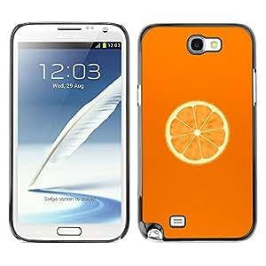 Be Good Phone Accessory // Dura Cáscara cubierta Protectora Caso Carcasa Funda de Protección para Samsung Note 2 N7100 // Minimalist Orange Slice