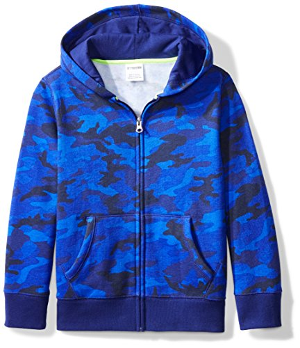 Amazon Brand - Spotted Zebra Big Kid Fleece Zip-Up Hoodies, Camo, Medium (8)