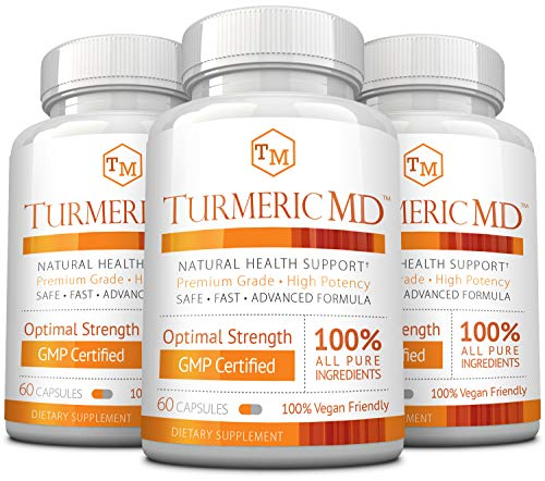 Cheap Turmeric MD – with BioPerine & 95% Standardized Turmeric Curcuminoids – Natural Anti-Inflammatory, Antioxidant, Pain Relief and Antidepressant – 180 Capsules (3 Months Supply)