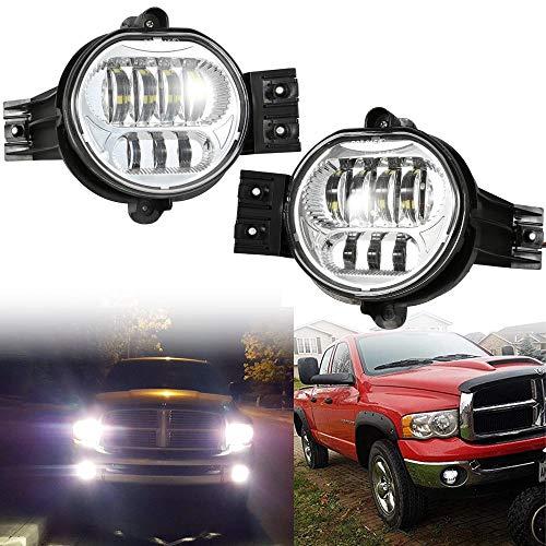 2019 New Version LED Passing Lamps Fog Lights For Dodge Ram 1500 2500/3500 2002 2003 2004 2005 2006 2007 2008 2009 Durango 2004-2006 Truck Chrome
