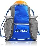 Legendary Drawstring Gym Bag - XL Capacity | Fits All Sports Gear | Waterproof Heavy-Duty Sackpack (Blue)