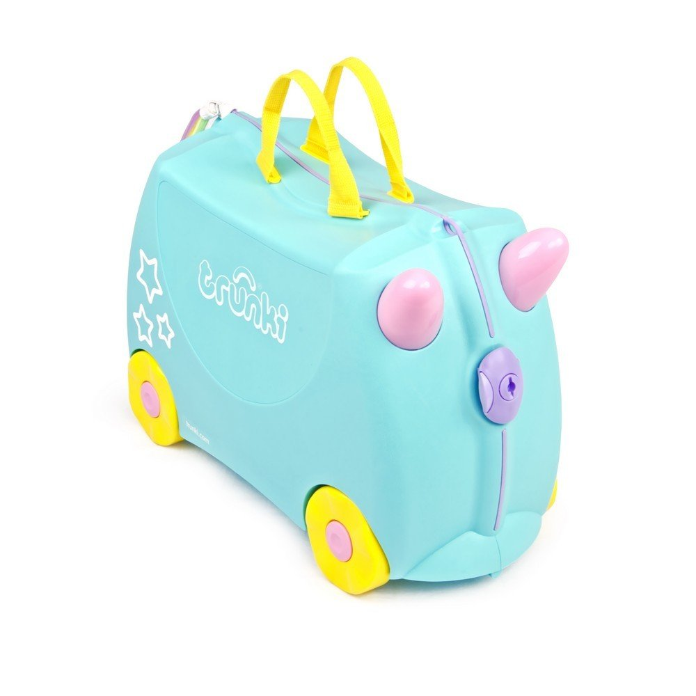 Trunki Ride-On Suitcase, Una The Unicorn, Aqua 0287