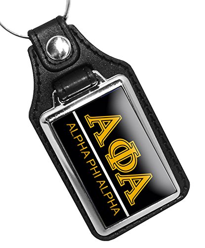 BrotherhoodProducts Alpha Phi Alpha Fraternity Faux Leather Key Ring