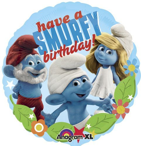 Single Source Party Supplies 18 Smurfs Birthday Mylar Foil